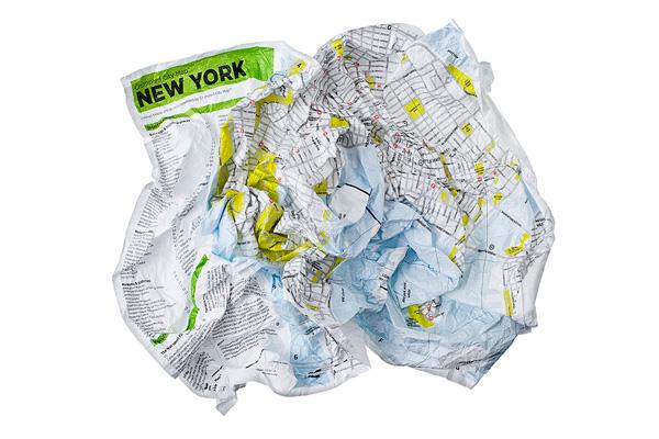 クランプル・シティ・マップ(Crumpled City Map)
